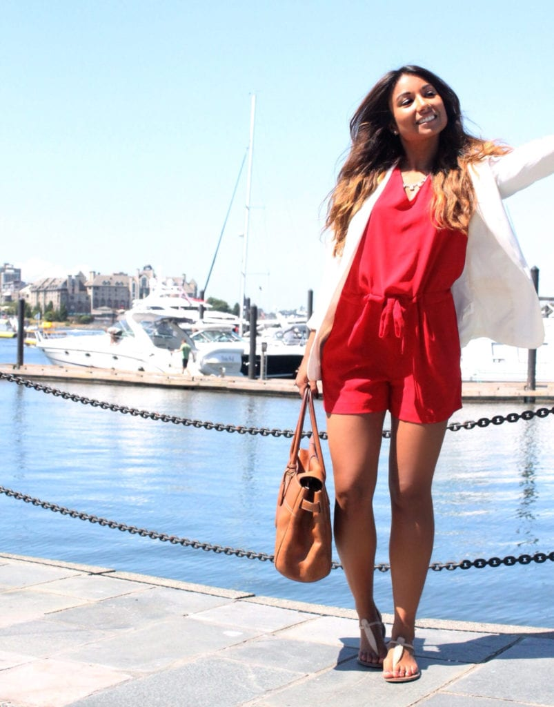 red summer styling