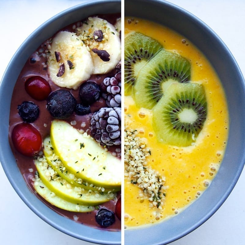 make a smoothie bowl