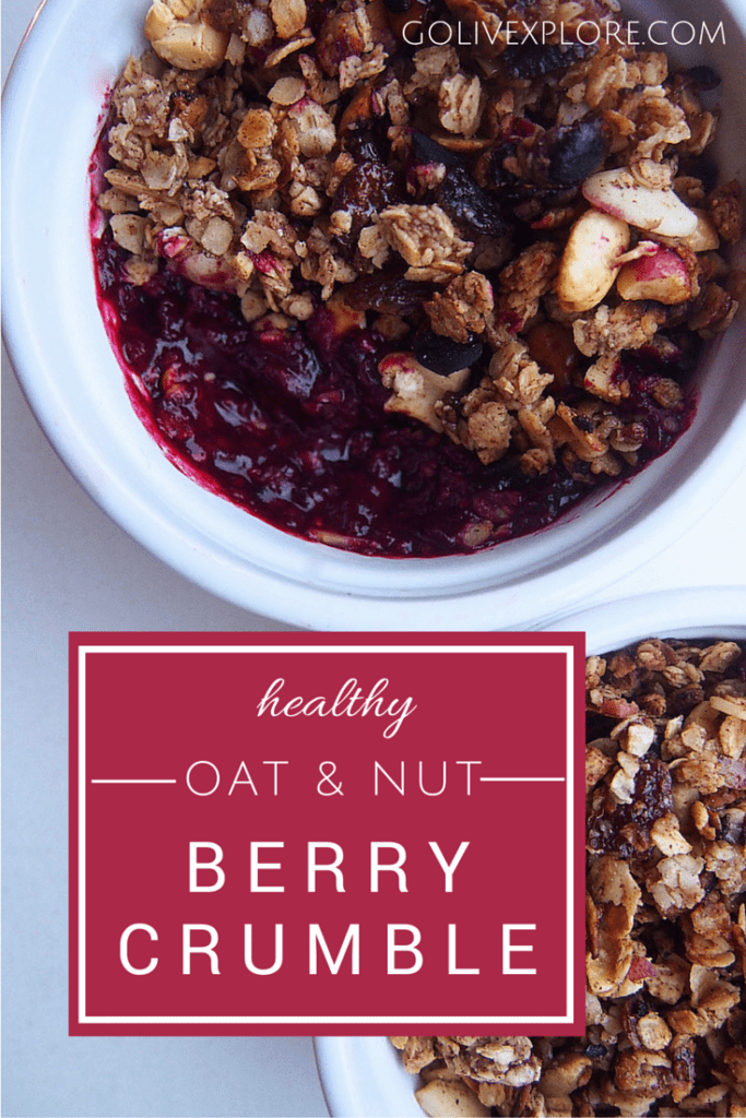 Oat and nut berry crumble