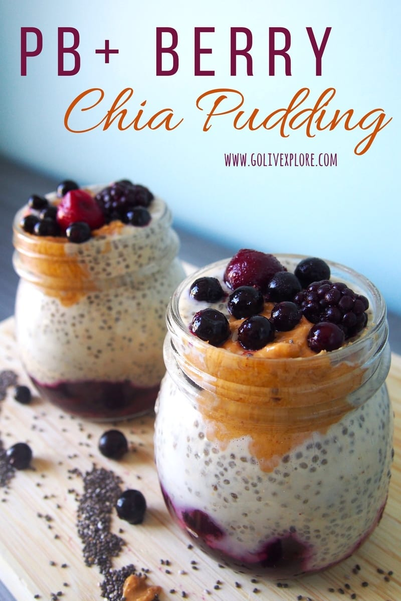 Peanut Butter Berry Chia Pudding