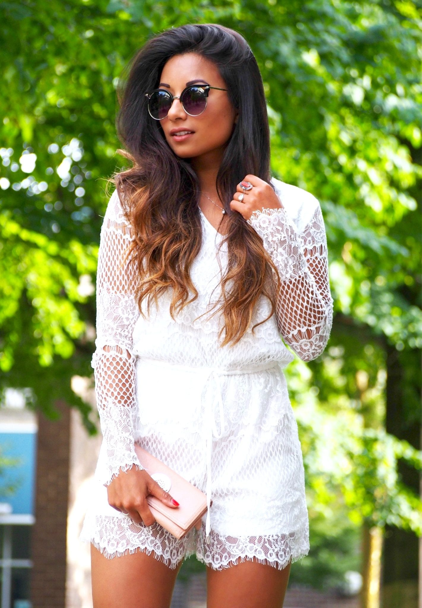 How To Style White Lace
