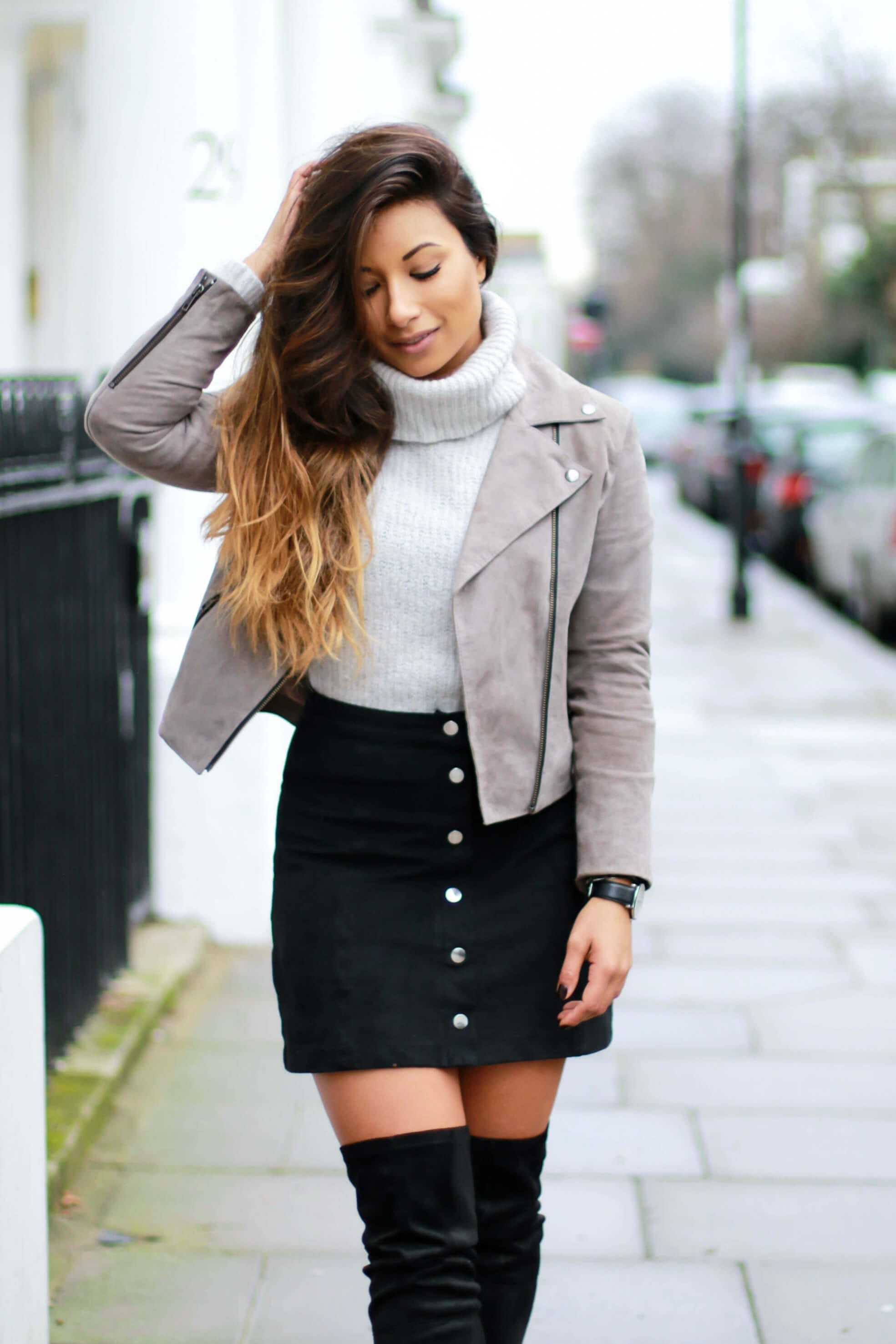 Ways To Transition Over The Knee Boots Into Spring