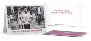 One Girl Can Charitable Holiday Cards